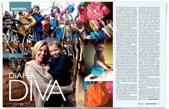 Diaper Diva featured in Oregon Business